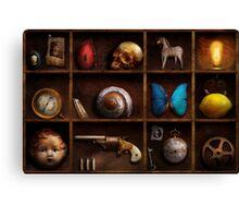 Steampunk - A box of curiosities Canvas Print