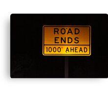 Road Ends Canvas Print