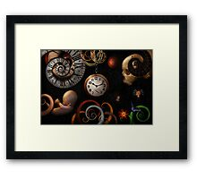 Steampunk - Abstract - The beginning and end Framed Print