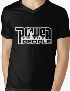Power To The People - BLACK Mens V-Neck T-Shirt