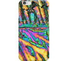 Bismuth chloride crystals under the microscope. iPhone Case/Skin
