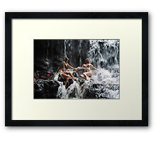 The Birth of the Double Star. Anna at Eureka Waterfalls, Mauritius Framed Print