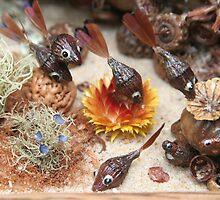 Barrier Leaf ~ Brown Fish by MaryJaneBayliss