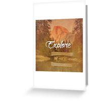 Explore: Half Dome Greeting Card
