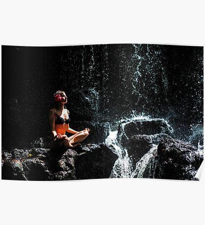 Whole Universe. Anna at Eureka Waterfalls, Mauritius Poster