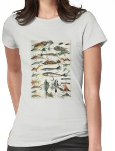 1920's Fishing Flies Womens Fitted T-Shirt