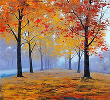 Road side Fall Trees by Graham Gercken