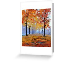 Road side Fall Trees Greeting Card
