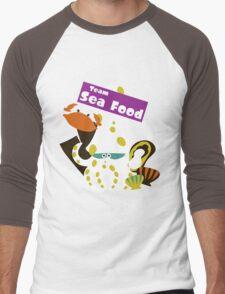 Splatfest Team Sea Food v.2 Men's Baseball ¾ T-Shirt