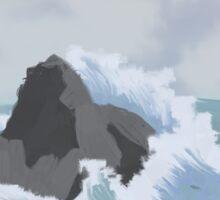 Crashing wave Sticker