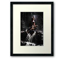 Approaching the Light. Anna at Eureka Waterfalls, Mauritius Framed Print
