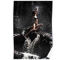Approaching the Light. Anna at Eureka Waterfalls, Mauritius Poster