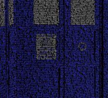 Tardis word art Sticker