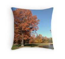 Bald Cypress Tree with Autumn color Throw Pillow