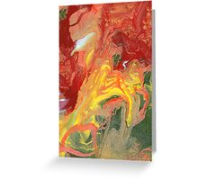 Abstract - In a state of flux Greeting Card
