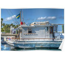 """""""The Yamacraw"""" docked on Eastern Road in Nassau, The Bahamas Poster"""