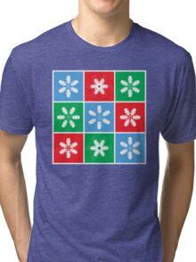 Holiday Snowflake Lanterns  Tri-blend T-Shirt