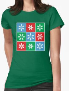 Holiday Snowflake Lanterns  Womens Fitted T-Shirt