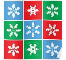 Holiday Snowflake Lanterns  Poster