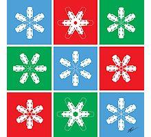 Holiday Snowflake Lanterns  Photographic Print