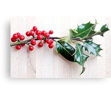 Holly with red berries Metal Print