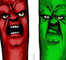 two angry chili pepers Sticker
