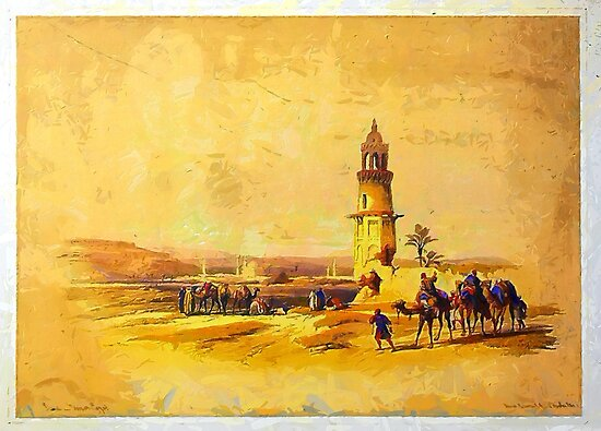 Siout, Upper Egypt 1838 by Dennis Melling