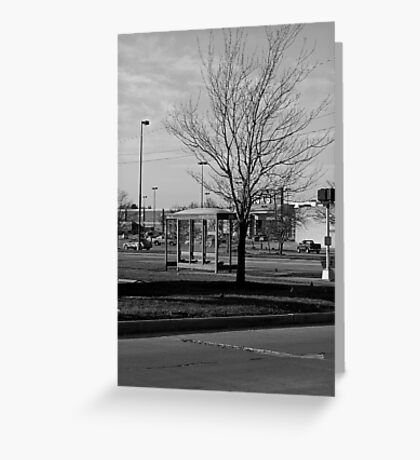 Empty Bus Stop Greeting Card