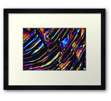 Zinc sulfate crystals under the microscope. Framed Print