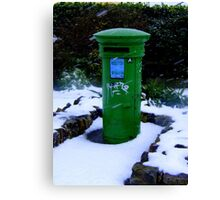Postbox at Rosslare ... Canvas Print