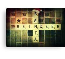 Santa Scrabble Christmas Card Canvas Print