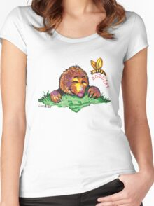 Buzz off shirt (Drawn) Women's Fitted Scoop T-Shirt