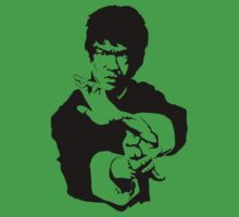 Great Bruce Lee Stencil Art Kids Clothes