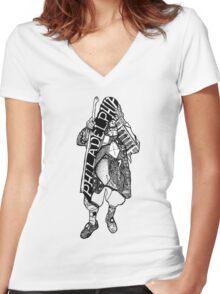 Ben Franklin's Philadelphia Women's Fitted V-Neck T-Shirt