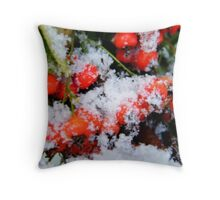 Ted and Clare's Winter Berries... Throw Pillow