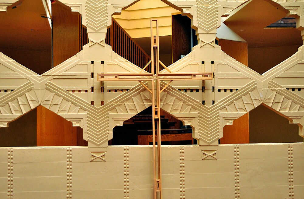 Cross, Frank Lloyd Wright Designed Chapel, Florida Southern College, Lakeland, Florida by fauselr