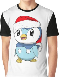 Piplup Santa Hat Graphic T-Shirt