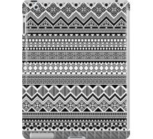Aztec Design - Black & White iPad Case/Skin