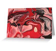 Abstract - Paint - Raspberry Nebula Greeting Card