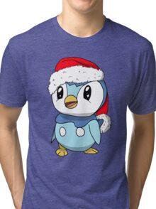 Piplup Santa Hat Tri-blend T-Shirt