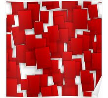 seamless red paper Poster