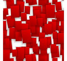 seamless red paper Photographic Print