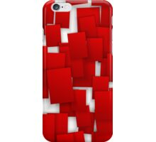 seamless red paper iPhone Case/Skin
