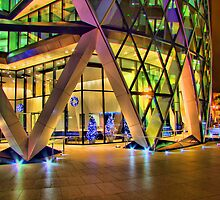 Christmas At The Gherkin London by Colin J Williams Photography
