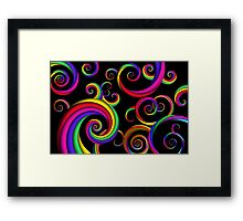 Abstract - Spirals - Inside a clown Framed Print
