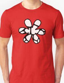 Flower, Animal Print (Giraffe Pattern) - Black White  T-Shirt