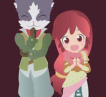 Nyanta and Serara by GinHans