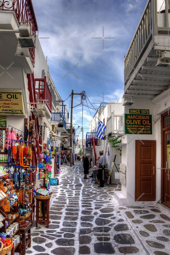 Mykonos Shops by Tom Gomez