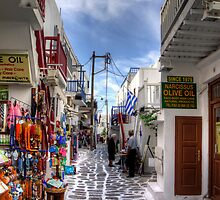 Mykonos Shops by Tom Gomez