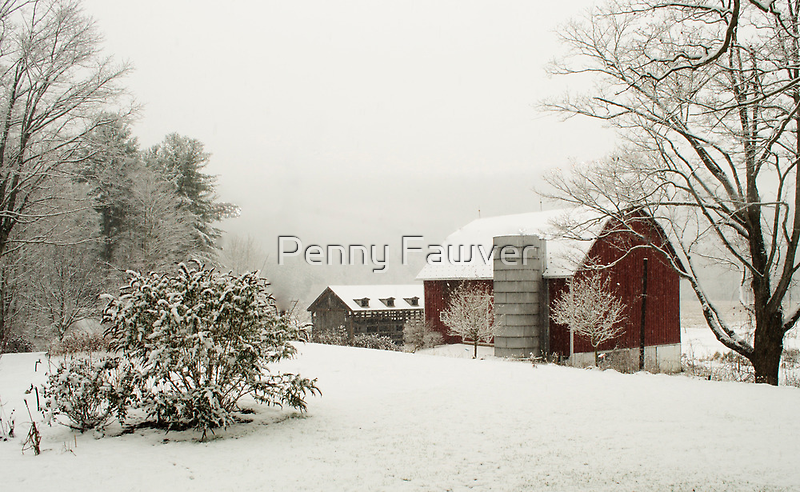 First snow of 2012  by Penny Rinker